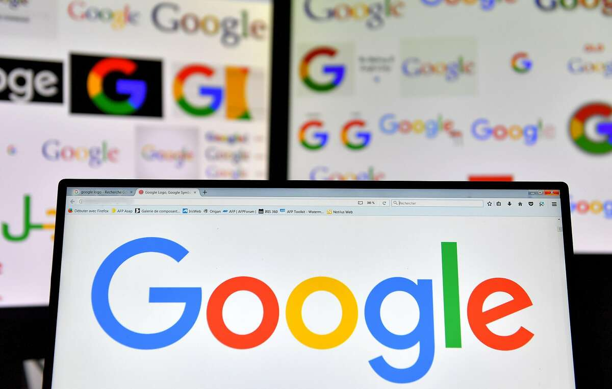 (FILES) A file photo taken on November 20, 2017 shows logos of US multinational technology company Google displayed on computers' screens. - Google is dropping out of the bidding for a huge Pentagon cloud computing contract that could be worth up to $10 billion, saying the deal would be inconsistent with its principles. The decision by Google, confirmed to AFP in an email October 9, 2018, leaves a handful of other tech giants including Amazon in the running for the Joint Enterprise Defense Infrastructure (JEDI) contract aimed at modernizing the military's computing systems. (Photo by LOIC VENANCE / AFP)LOIC VENANCE/AFP/Getty Images