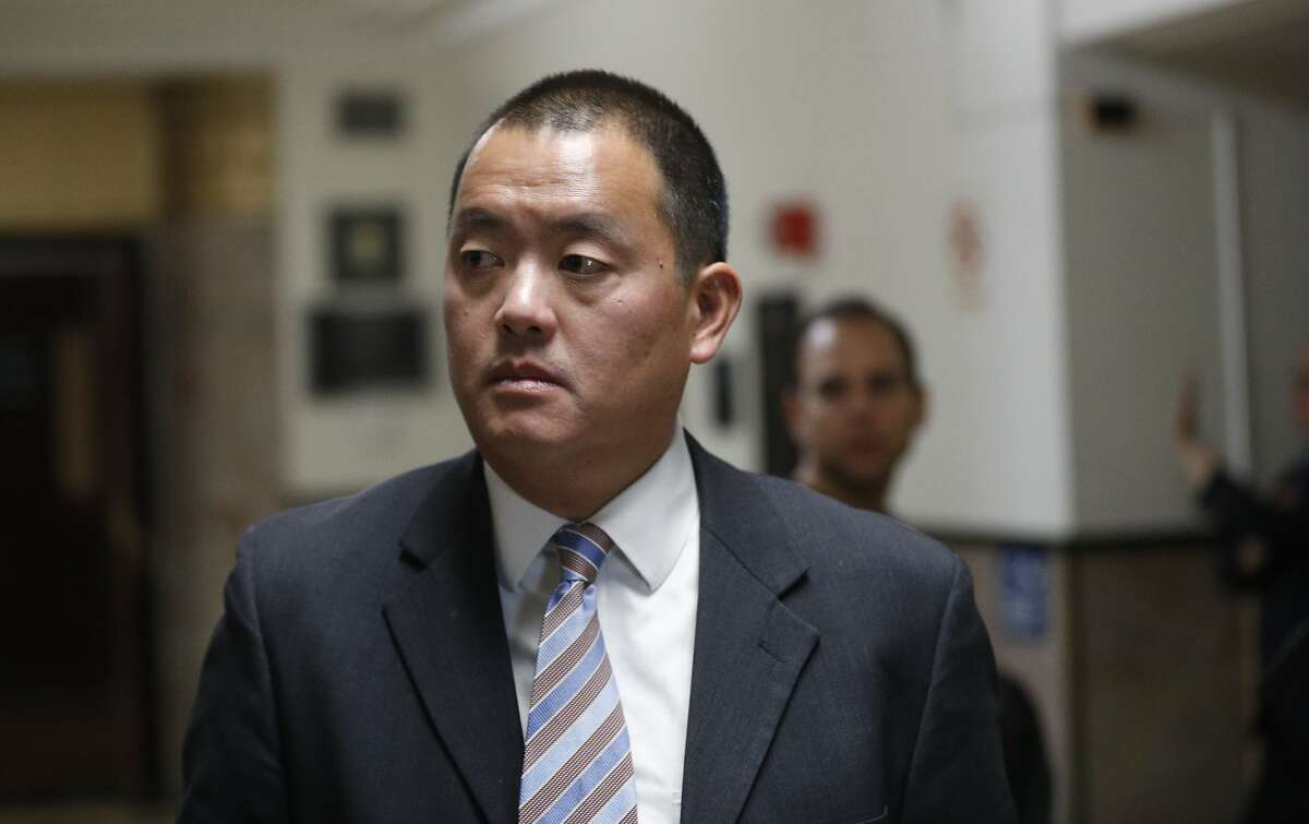 Alameda County Deputy District Attorney David Lim during a break at the preliminary hearings in the case against Ghost Ship operator Derick Almena and creative director Max Harris in Alameda County Superior Court in Oakland, Calif. on Wednesday December 6, 2017.