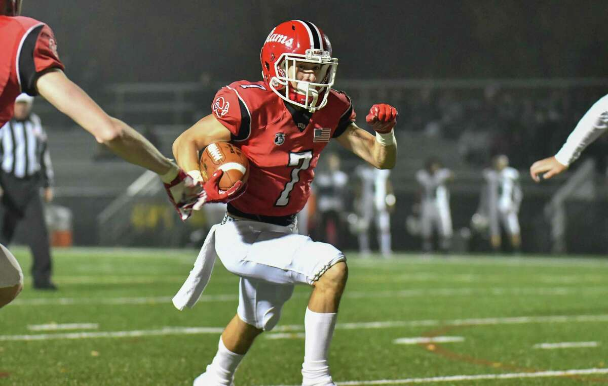FCIAC football action between the Norwalk Bears and the New Canaan Rams played on Friday November 2, 2018, at New Canaan High School in New Canaan, Connecticut.