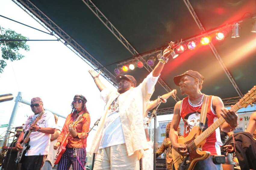 George Clinton and the Parliament Funkadelic take the stage for Alive at Five in Downtown Stamford July 15, 2010.
