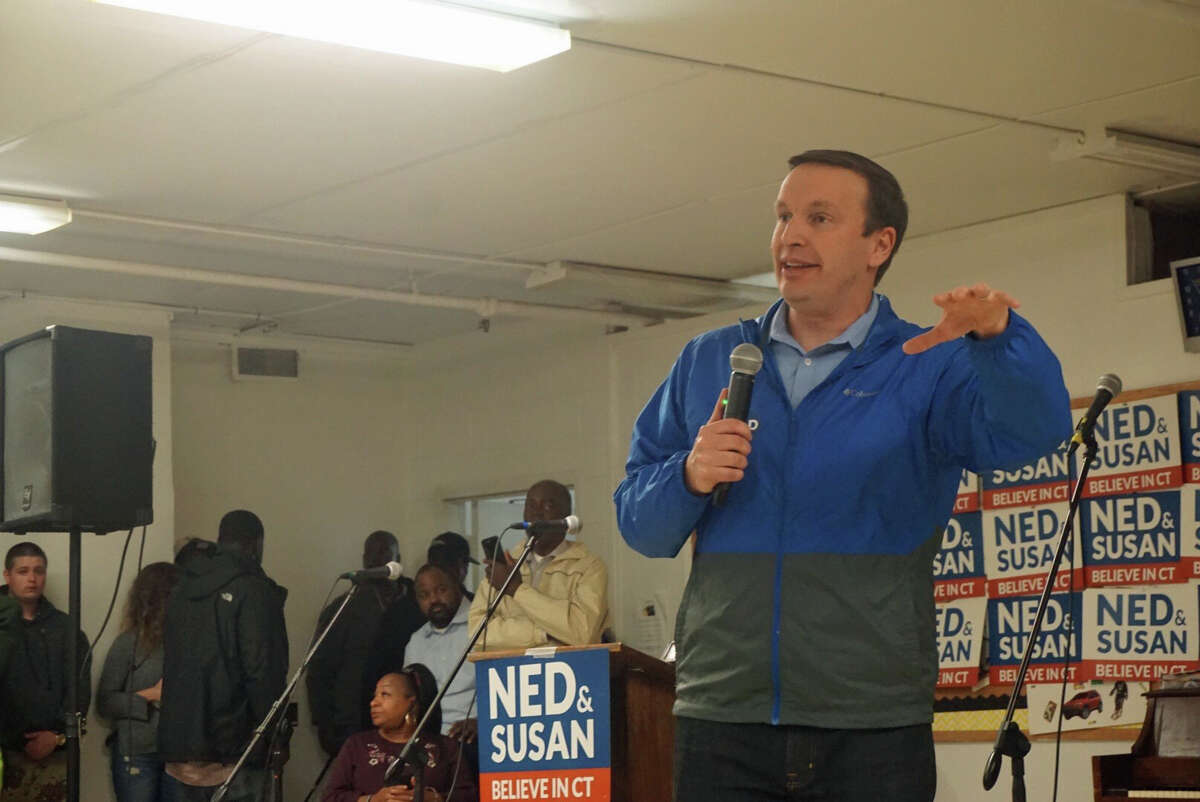 U.S. Sen. Chris Murphy spoke at a rally at Bethel African Methodist Episcopal Church in New Haven, Conn. on Saturday November 3, 2018.