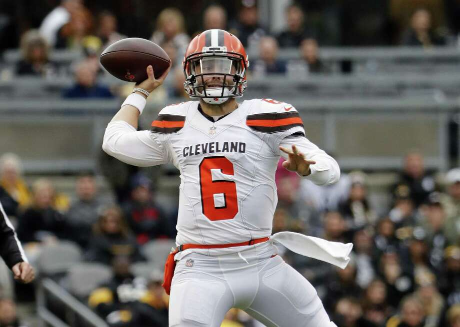 Quarterback Baker Mayfield and the Browns host the Chiefs on Sunday. Photo: Winslow Townson / Associated Press / Panini