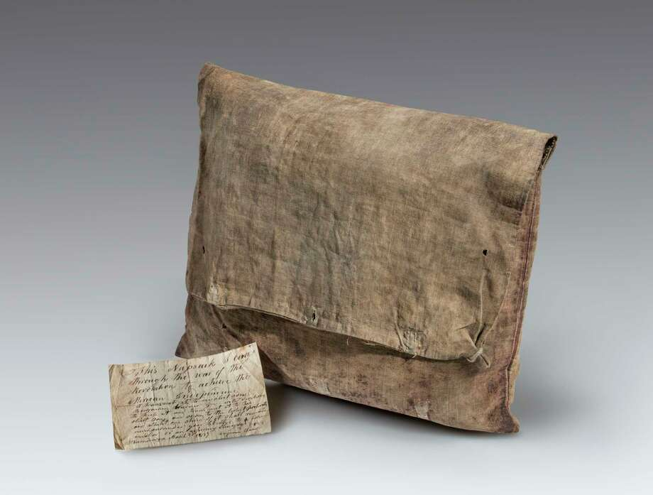This knapsack and accompanying note was carried by Connecticut soldier, Benjamin Warner, during the American Revolution. (Courtesy Fort Ticonderoga) Photo: Gavin Ashworth / ©Gavin Ashworth