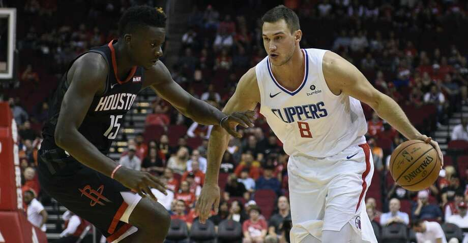 PHOTOS: Rockets game-by-game Los Angeles Clippers forward Danilo Gallinari (8) dribbles as Houston Rockets center Clint Capela defends during the first half of an NBA basketball game, Friday, Oct. 26, 2018, In Houston. (AP Photo/Eric Christian Smith) Browse through the photos to see how the Rockets have fared in each game this season. Photo: Eric Christian Smith/Associated Press