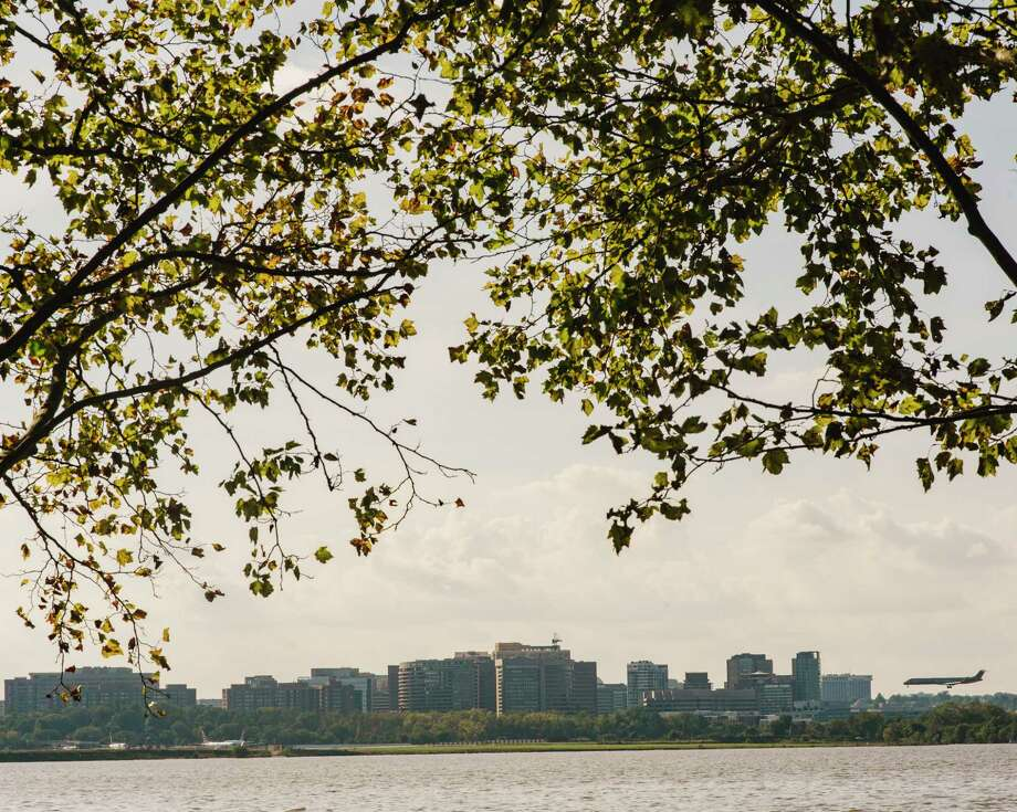 The Crystal City neighborhood of Arlington, Va., seen from across the Potomac in Washington, Oct. 1, 2018.  Many investors and officials believe Amazon sees Northern Virginia as the best fit for a second headquarters site. Among the upsides: good transit, diverse residents, a friendly business climate, and a single developer with a big chunk of land. (Jared Soares/The New York Times) Photo: JARED SOARES / NYTNS