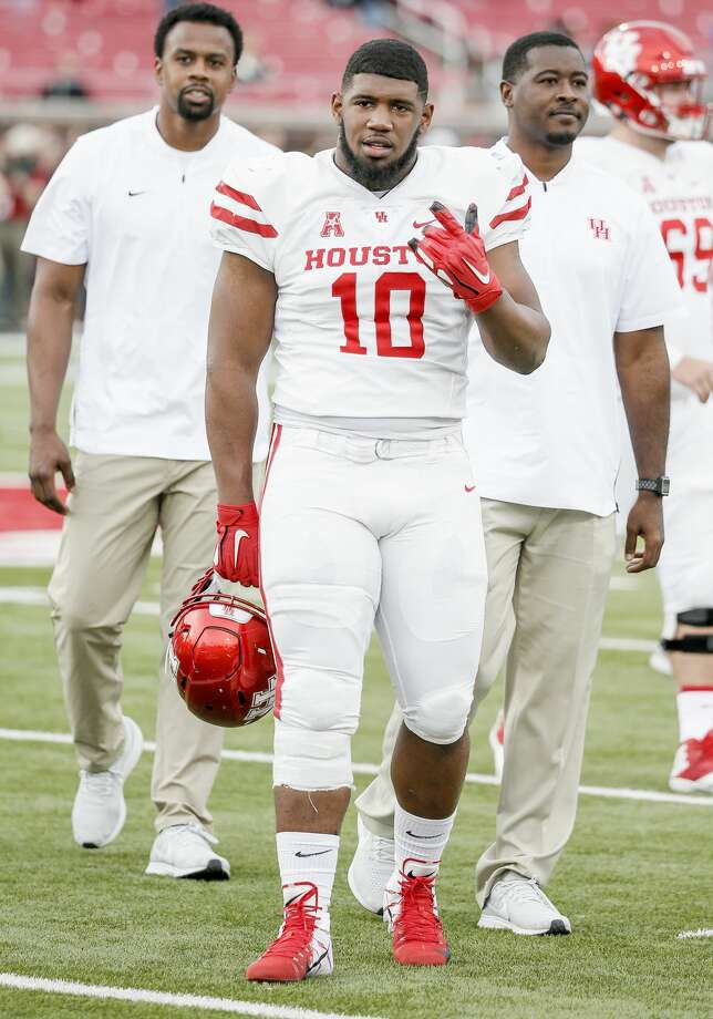 Houston defensive tackle Ed Oliver (10) during warmups before an NCAA college football game against Houston, Saturday, Nov. 3, 2018, in Dallas. (AP Photo/Brandon Wade) Photo: Brandon Wade/Associated Press