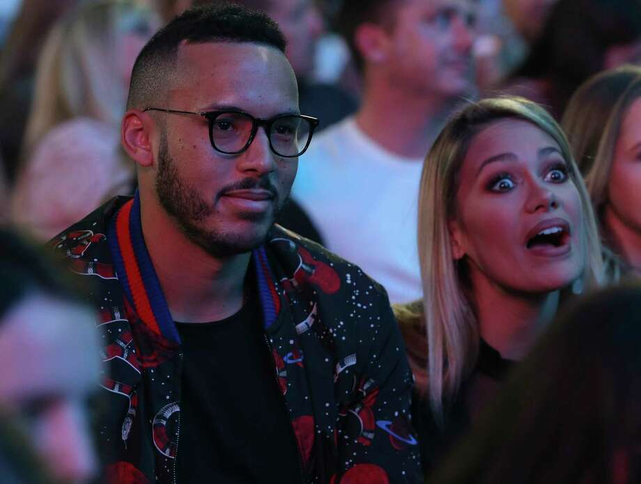 Houston Astros' Carlos Correa and fiancée Daniella Rodriguez are at Ed Sheeran's ÷ concert at Minute Maid Park on Saturday, Nov. 3, 2018, in Houston. Photo: Yi-Chin Lee, Staff Photographer / © 2018 Houston Chronicle