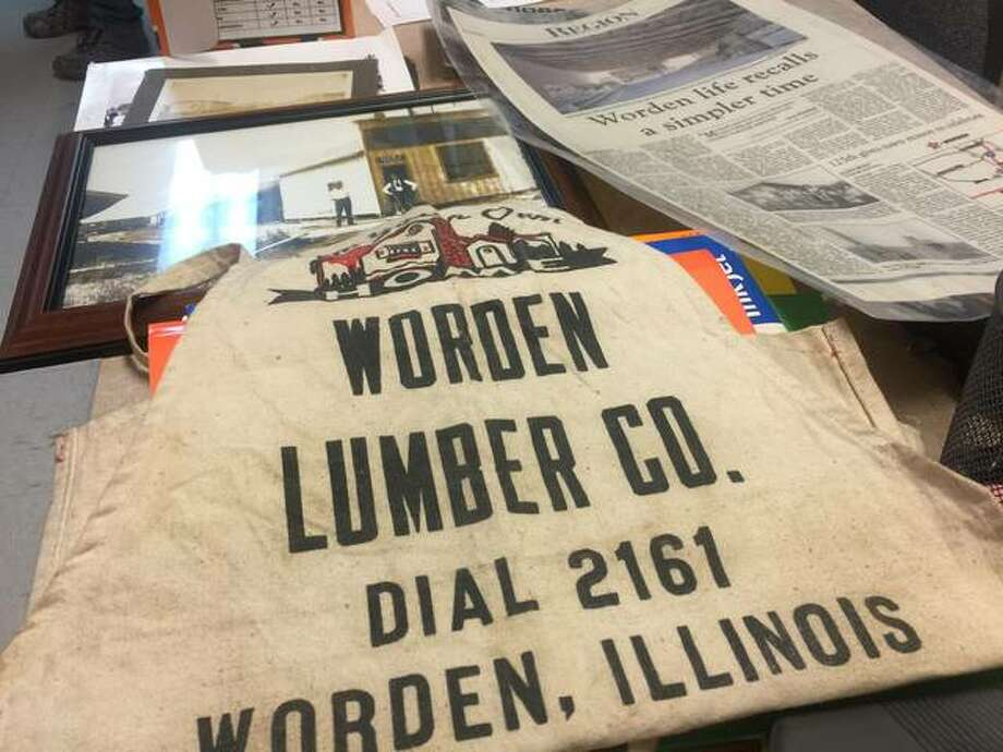 Reminders of the long and storied history of Worden Lumber Company are strewn about the business's office space. The business is closing its doors after more than a century in operation. Photo: Nathan Grimm | Hearst Illinois