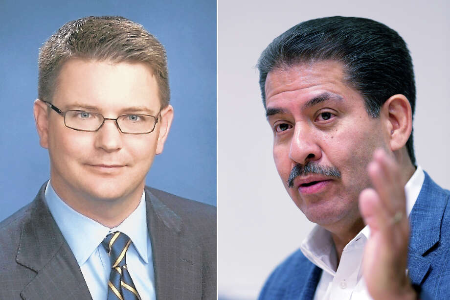 Current Harris County Precinct 2 commissioner Republican Jack Morman and democratic candidate Adrian Garcia. Photo: Chronicle File Photos