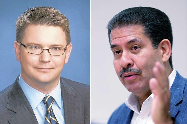 Current Harris County Precinct 2 commissioner Republican Jack Morman and democratic candidate Adrian Garcia.