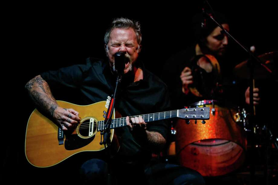 James Hetfield and Metallica put on an all-acoustic show in support of its All Within My Hands foundation at the Masonic in San Francisco. Photo: Gabrielle Lurie / ONLINE_YES