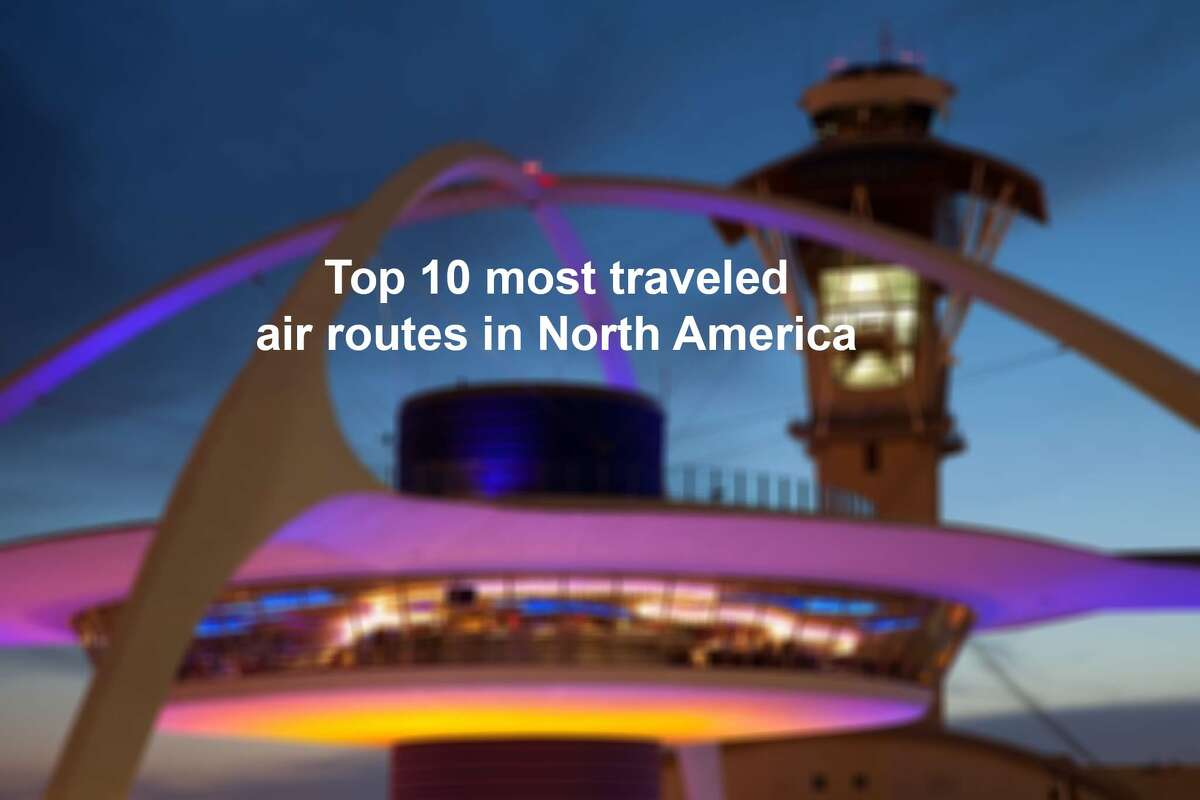 The Top 10 most traveled air routes in North America