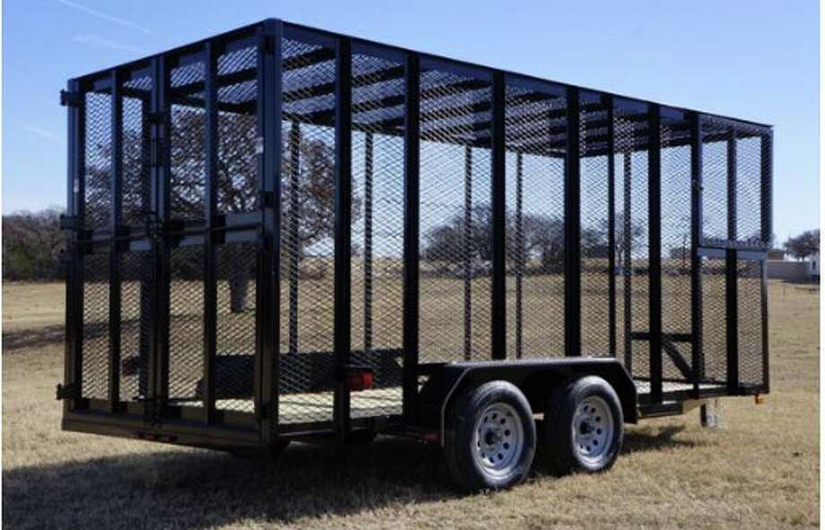 Deputies responded to the 10000 block of County Road 1110 at about 10 a.m. Sept. 14 in reference to a trailer that was stolen. The complainant said the trailer is used to haul trash for the business. The trailer is black. 16 feet long with 8-foot expanded metal walls equipped with a scissor lift for dumping. The trailer has a heart with an arrow cut out of the frame for the hydraulic hoses.  Photo: Midland Crime Stoppers
