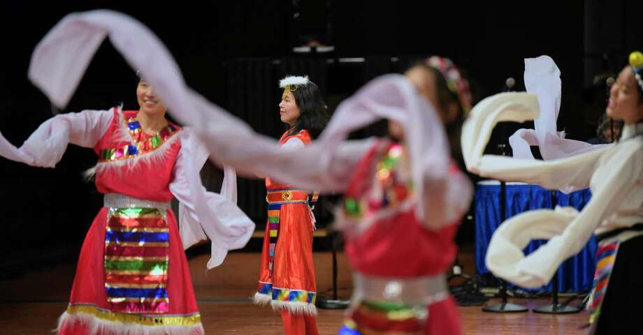 Dancers from the Asian Culture Institute representing the country of China, perform at the 47th annual Festival of Nations at the Empire State Convention Center on Sunday, Nov. 4, 2018, in Allbany, N.Y.  (Paul Buckowski/Times Union) Photo: Paul Buckowski / (Paul Buckowski/Times Union)