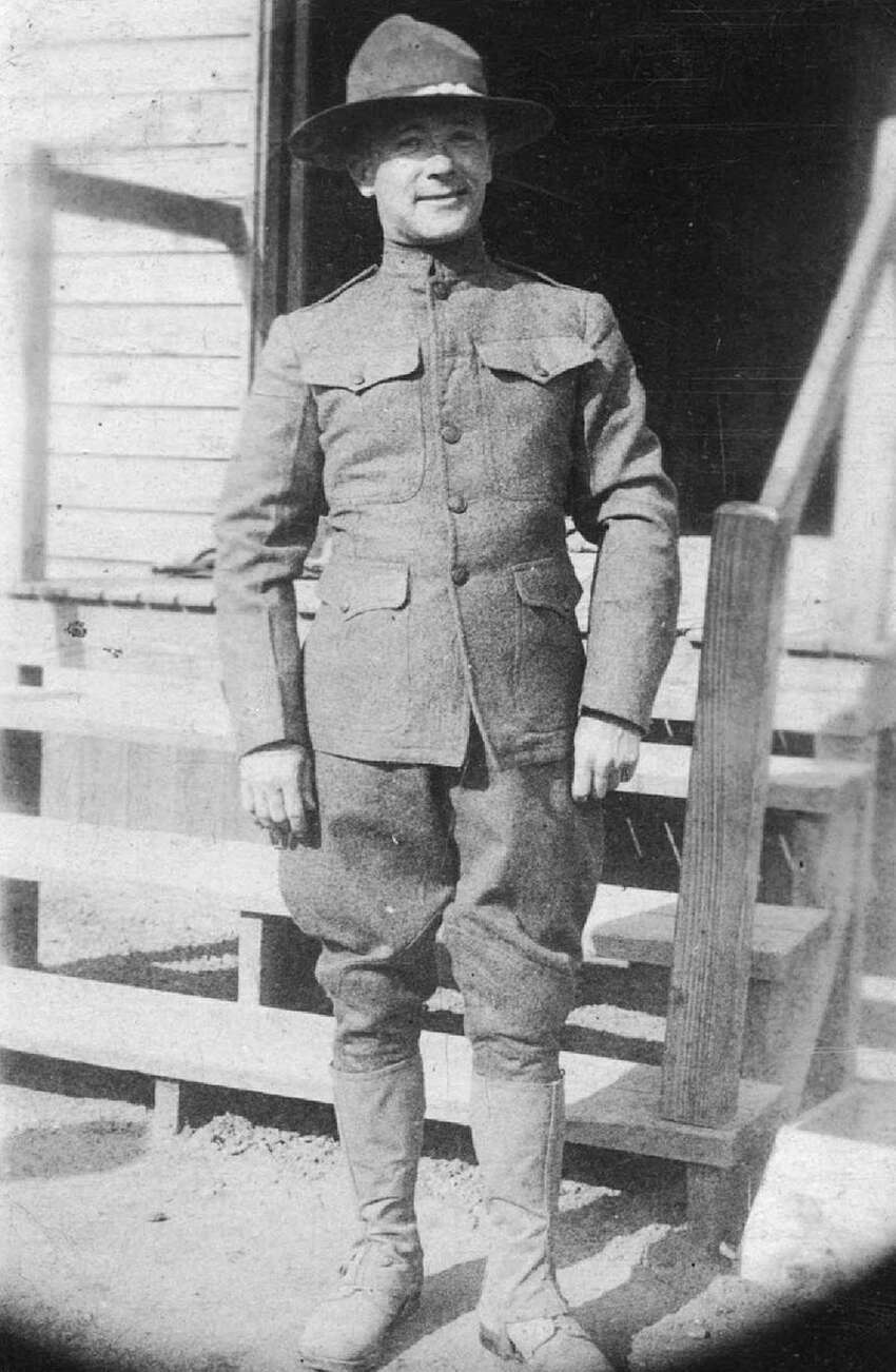 Parker Dunn of Albany is seen in his uniform. He was killed in action in October 1918. (Cathedral of the Immaculate Conception)