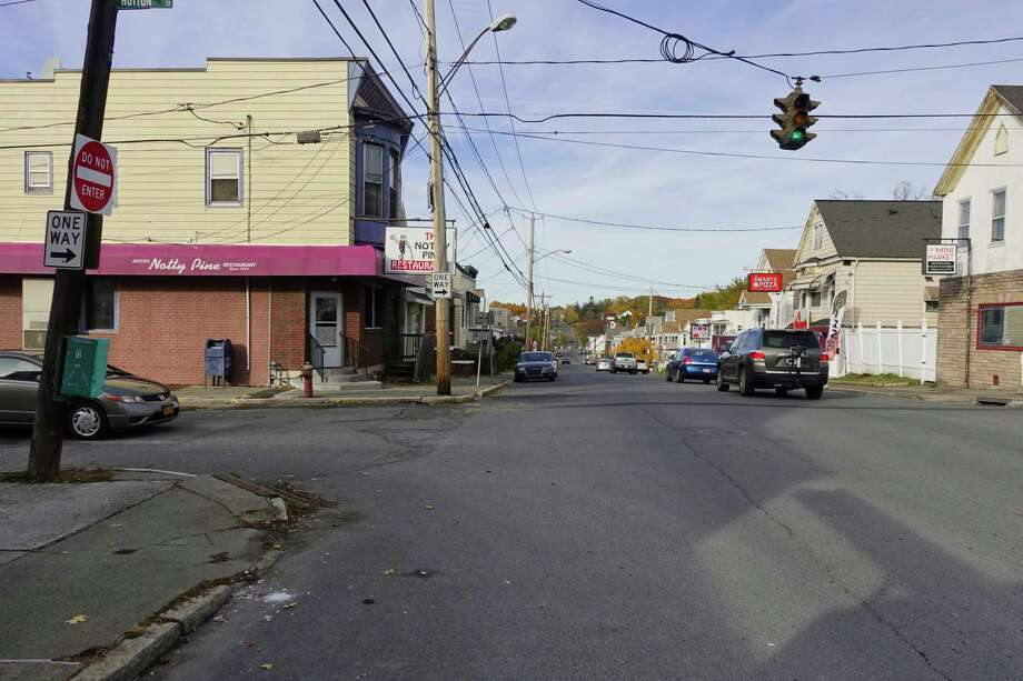 A view looking north on 15th Street towards Hutton Street on Sunday, Nov. 4, 2018, in Troy, N.Y. A family in a car were shot at near this intersection recently.  (Paul Buckowski/Times Union) Photo: Paul Buckowski / (Paul Buckowski/Times Union)