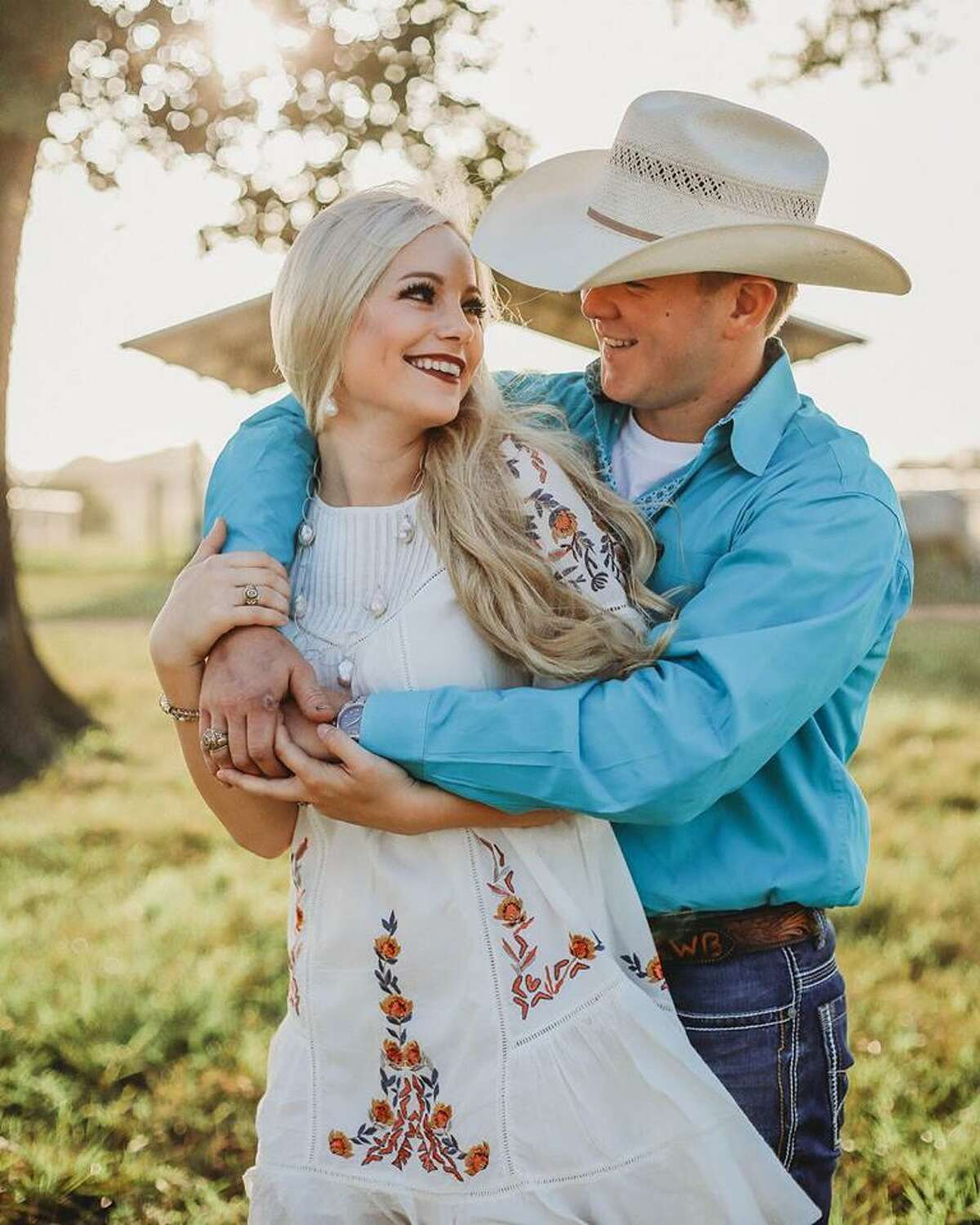 Newlyweds Bailee Ackerman Byler, left, and Will Byler, seen in an undated photo provided Sunday, Nov. 4, 2018 by a family friend, were killed in a helicopter crash in Uvalde County early Sunday morning, Nov. 4, 2018. The couple had just been married and were flying to their honeymoon in the helicopter, according to friends of the couple.