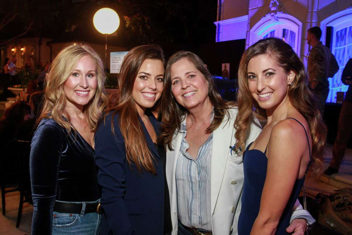 Catherine Sdao, from left, Mallory Michaelis, Tammy Michaelis and Meagan Michaelis at the True Blue Gala benefiting Houston Police Department.