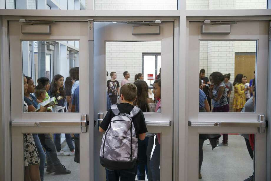 More money from the Permanent School Fund would help Cleveland Middle School cope with rapid growth. Cleveland schools have seen enrollment nearly double since 2014. Photo: Michael Ciaglo, Houston Chronicle / Staff Photographer / Michael Ciaglo