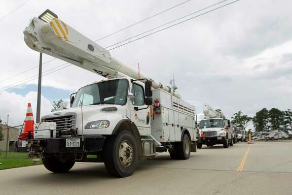 A crew from Entergy makes its way from the company's Conroe facility toward the east coast to assist with infrastructure recovery due to Hurricane Michael.