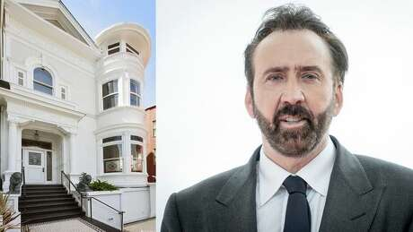 A house formerly owned by actor Nicholas Cage in San Francisco is for sale. Photo: Robert Marquardt/Getty Images; Realtor.com
