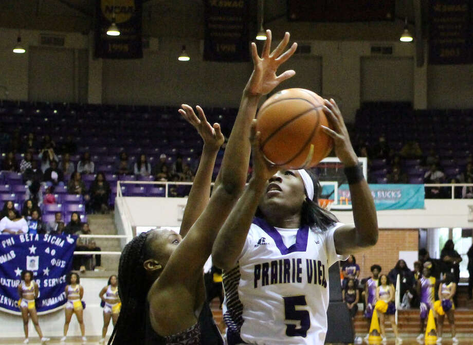 PHOTOS: Local high school players selected in the NBA draft  Prairie View A&'s Shala Dobbins goes up for a shot against Texas Southern during the 2017-18 season.  >>>Check out the all-time list of every player who played high school basketball in Houston and went on to be selected in the NBA draft ...  Photo: Raymond Holley/Prairie View A& Athletics