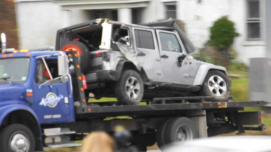 A Jeep Involved In Fatal Crash Monday Morning Schodack Is Taken Away From The