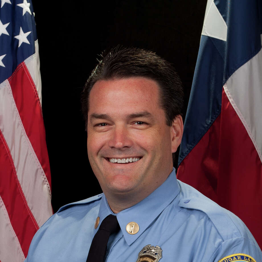 Battalion Chief Doug Boeker, a more than 25 year veteran of the Sugar Land fire department, was promoted to the position by assistant city manager Doug Brinkley. He will take over for Juan Adame, who will retire in January 2019. Photo: City Of Sugar Land