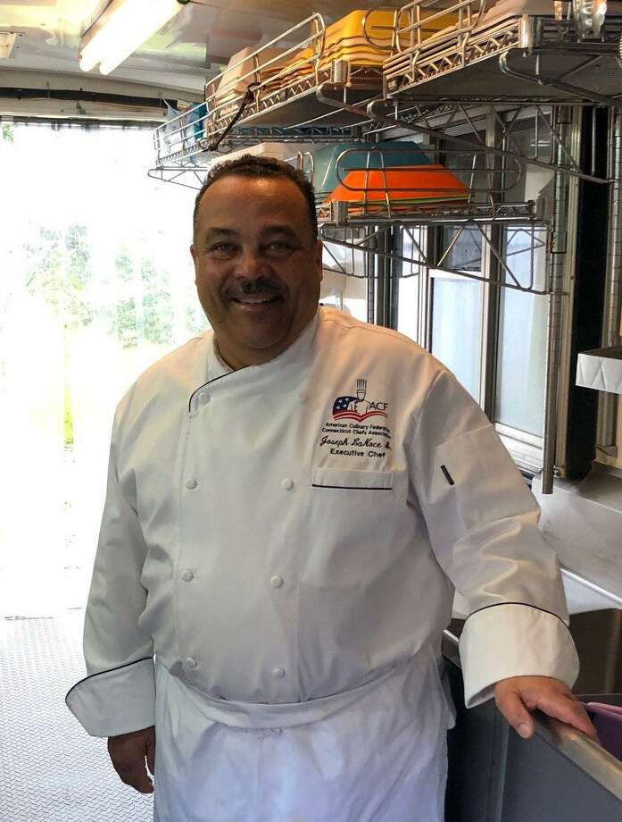 Spectrum/Joseph LaNoce recently opened LaNoce's Gourmet Market & Catering at 28 Merryall Road in New Milford (fall 2018). The market offers a variety of prepared foods made from scratch and catering services. LaNoce is shown above in his mobile kitchen. Photo: Deborah Rose / Hearst Connecticut Media / The News-Times  / Spectrum