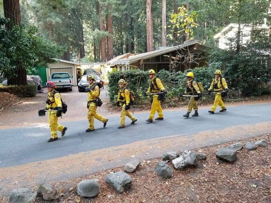 Highway 9 Shut Down By Smoky Fire In Santa Cruz Sfgate