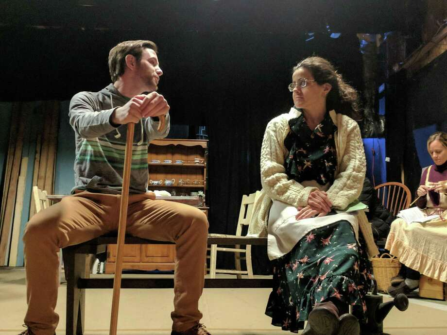 "Patrick Kelly and Emily Volpintesta rehearse a scene for ""Dancing at Lughnasa,"" onstage at The Little Theatre in Newtown, Nov. 16 through Dec. 8. Photo: Michele Leigh / Contributed Photo"