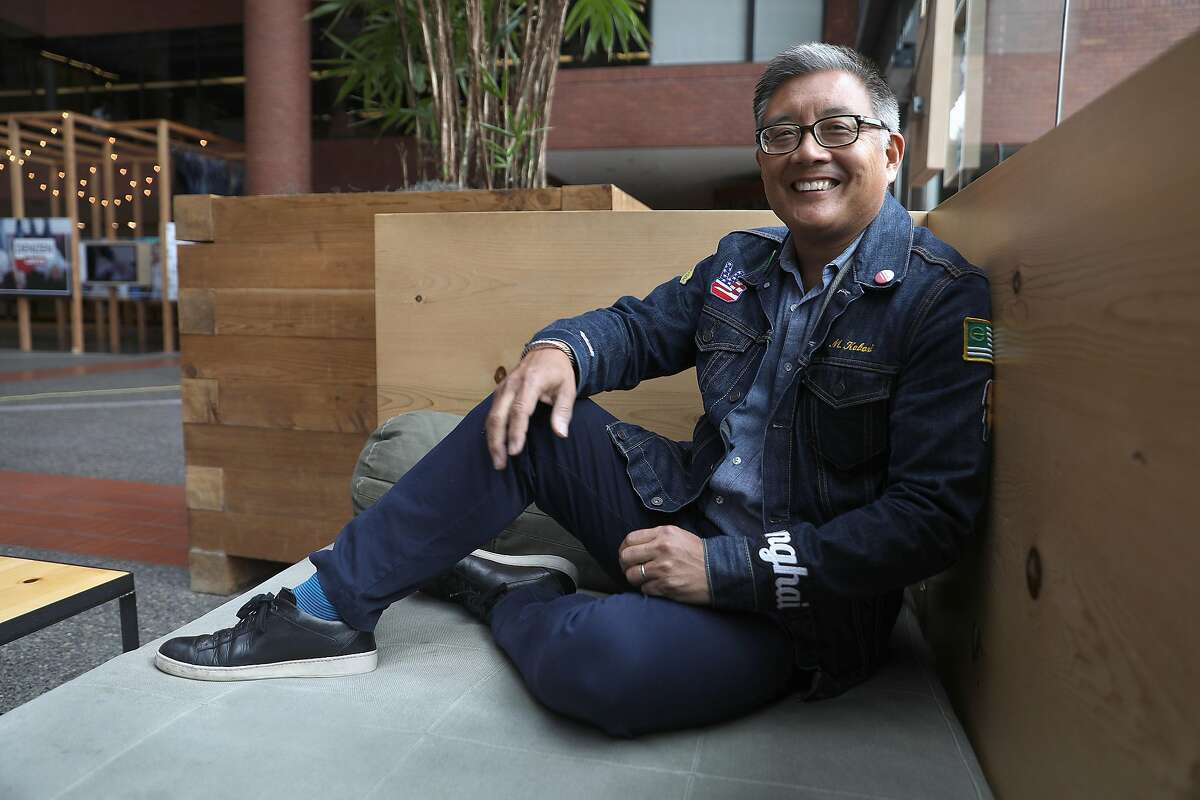 Vice president Michael Kobori of sustainability for Levi's has spearheaded its WasteLess and WaterLess water programs and other ethical initiatives on Thursday, Aug. 30, 2018 in San Francisco, Calif..