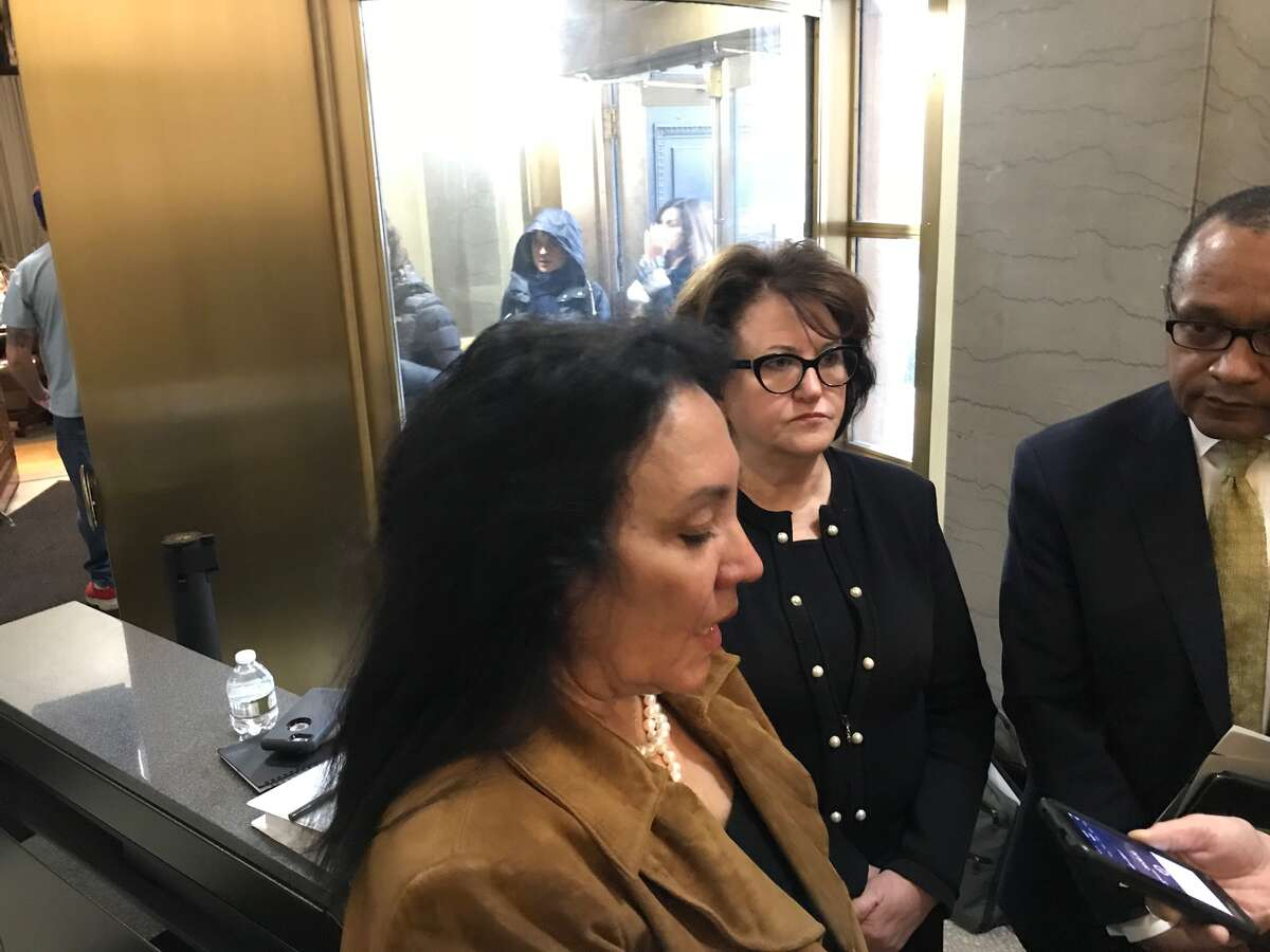 Regents Chancellor Betty Rosa, Education Commissioner MaryEllenEllia and Regents Vice Chancellor T. Andrew Brown discuss the testing-evaluation moratorium.