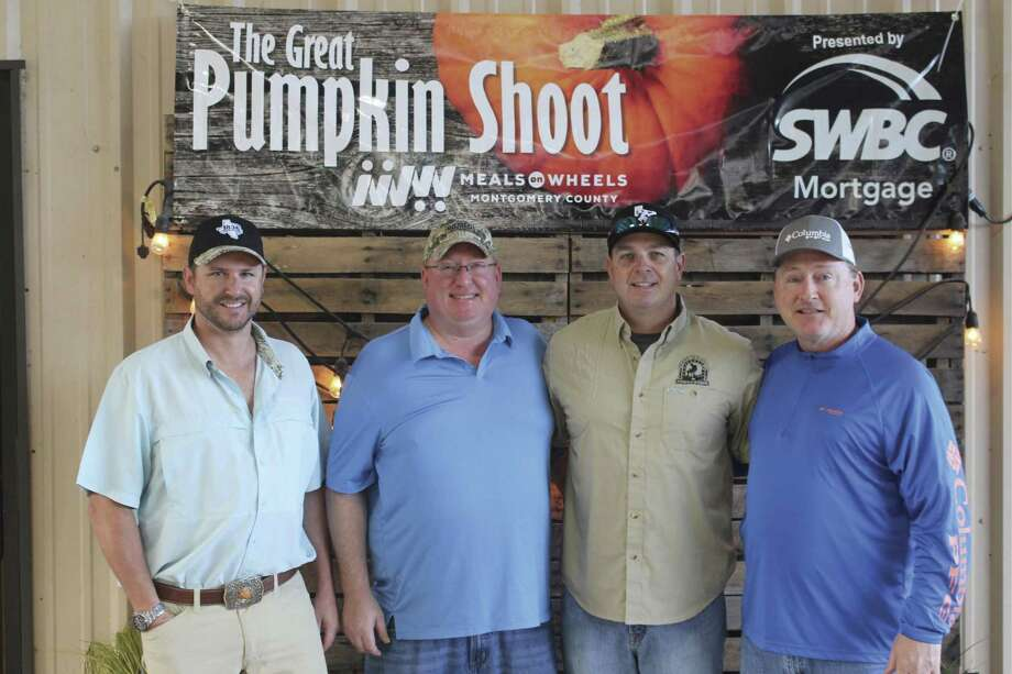 The SWBC team at the recent Great Pumpkin Shoot benefiting Meals on Wheels Montgomery County. Pictured left to right are Jeff Morris, Jim Harper, Jeff Bither and Jerry Walker.