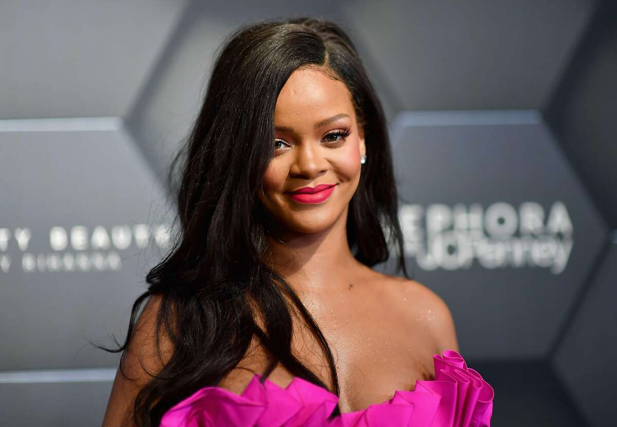 (FILES) In this file photo taken on September 14, 2018, Rihanna attends the Fenty Beauty by Rihanna event at Sephora in Brooklyn, New York. - Rihanna wants Americans to work, work, work, work, work -- on getting registered to vote. The 30-year-old Barbados-born pop singer -- who has residency in America but cannot vote herself -- took to Instagram to urge her fans to sign up before deadline for November's midterm elections. (Photo by Angela Weiss / AFP)ANGELA WEISS/AFP/Getty Images