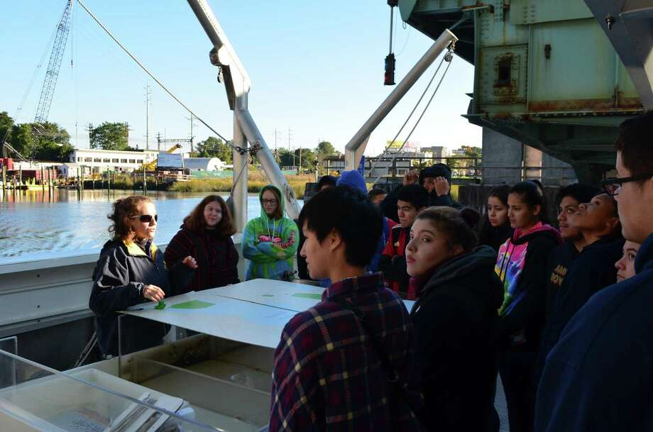 BrienMcMahon High School's juniors and seniors on a recent marine science trip. Photo: Contributed Photo / Contributed Photo / Norwalk Hour contributed