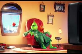 """Benedict Cumberbatch is teh voice of the Grinch in """"The Grinch."""" (Universal Pictures)"""