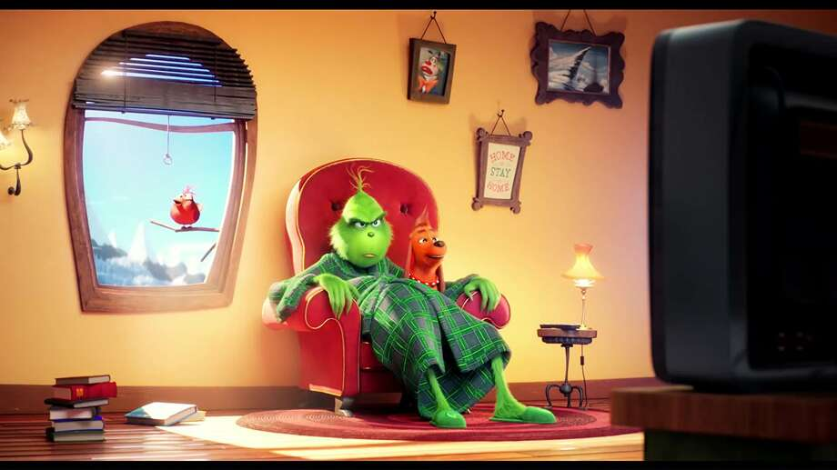 "Benedict Cumberbatch is teh voice of the Grinch in ""The Grinch."" (Universal Pictures)"