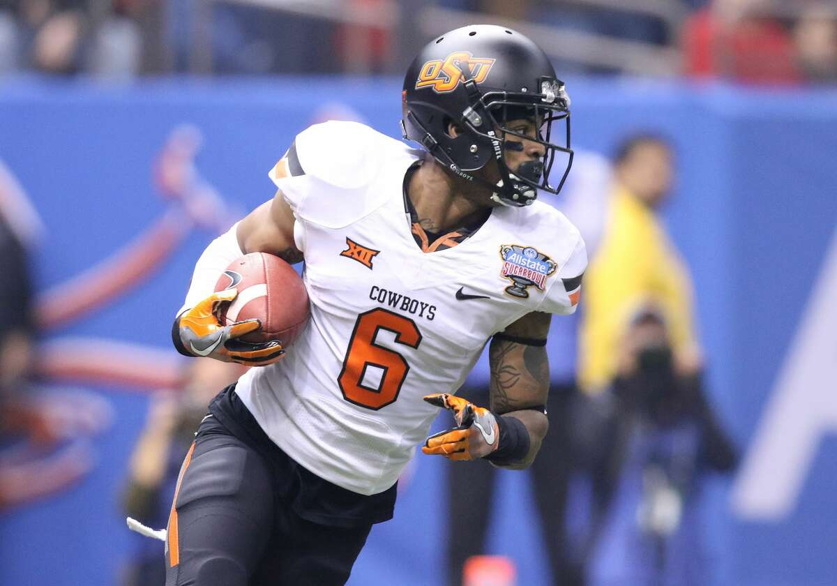 January 1, 2016: Oklahoma State Cowboys cornerback Ashton Lampkin (6) returns an interception during the Allstate Sugar Bowl between the Ole Miss Rebels and the Oklahoma State Cowboys at the Mercedes-Benz Superdome in New Orleans, La. (Photo by Scott Donaldson/Icon Sportswire) (Photo by Scott Donaldson/Icon Sportswire/Corbis via Getty Images)