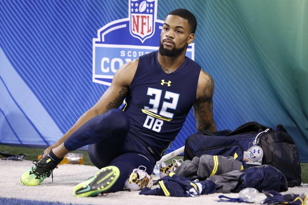 INDIANAPOLIS, IN - MARCH 06: Defensive back Ashton Lampkin of Oklahoma State looks on during day six of the NFL Combine at Lucas Oil Stadium on March 6, 2017 in Indianapolis, Indiana. (Photo by Joe Robbins/Getty Images)