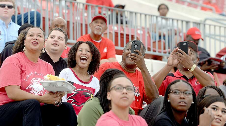 Lamar fans get in the homecoming spirit before the Cardinals take on Southeastern Louisiana at Provost Umphrey Stadium.  Saturday, September 22, 2018  Kim Brent/The Enterprise Photo: Kim Brent / The Enterprise / BEN