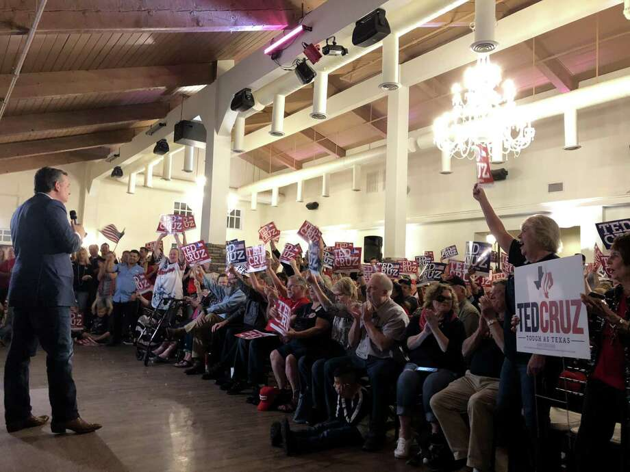 Sen. Ted Cruz speaks to his supporters at The Overlook Event Center in Atascocita Monday night. Also in attendance were District 127 State Rep. Dan Huberty and District 24 State Sen. Dawn Buckingham. Photo: Nguyen Le / Staff Photo