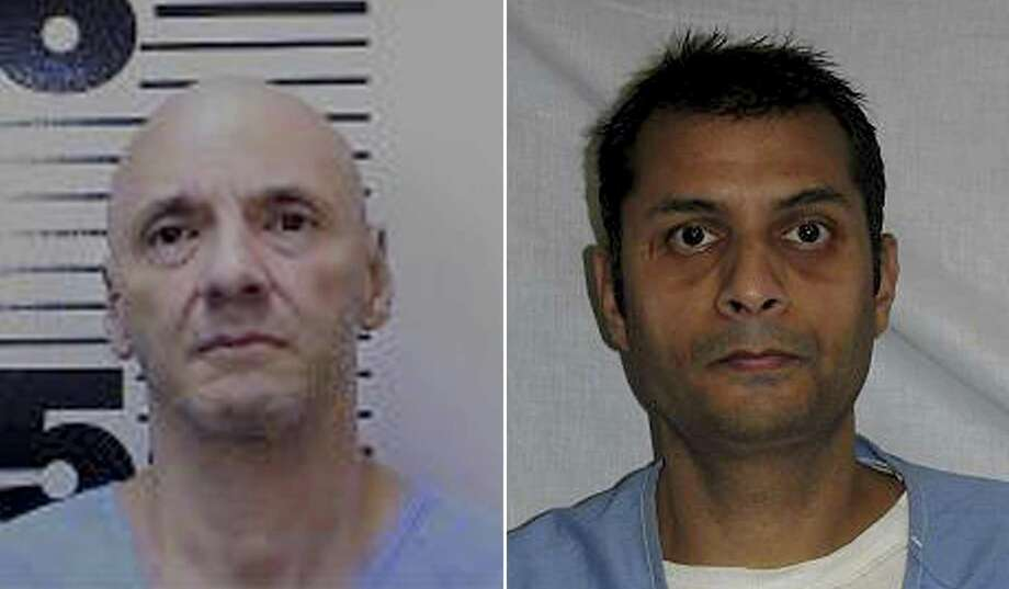 This undated photo released by the California Department of Corrections and Rehabilitation shows Andrew Urdiales. Urdiales (left) is one of two men on California's death row for committing multiple murders that was found dead at San Quentin State Prison. California prison officials said Monday, Nov. 5, 2018, they are investigating both deaths as suicides. (California Department of Corrections and Rehabilitation via AP) / This undated photo released by the California Department of Corrections and Rehabilitation shows Virendra Govin (right). Govin is one of two men on California's death row for committing multiple murders that was found dead at San Quentin State Prison. California prison officials said Monday, Nov. 5, 2018, they are investigating both deaths as suicides. (California Department of Corrections and Rehabilitation via AP) Photo: California Department Of Corrections And Rehabilitation Via AP