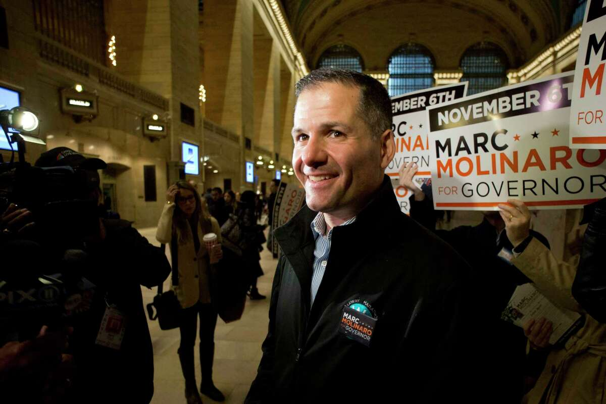New York Republican gubernatorial candidate Marc Molinaro spent about $2.4 million on his campaign this year. (AP Photo/Mark Lennihan)