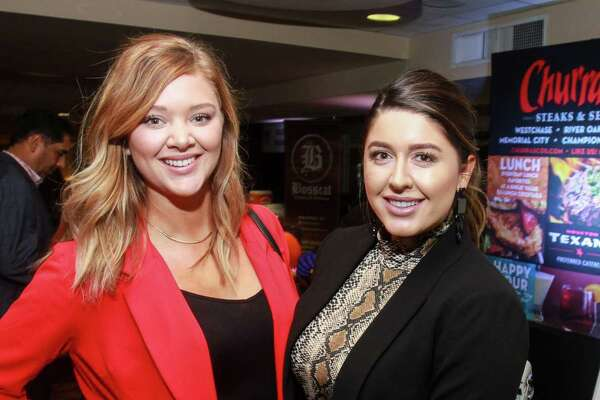 EMBARGOED FOR REPORTER UNTIL NOVEMBER 6 Traci Mooney, left, and Jackie Matranga at Taste Of The Texans.