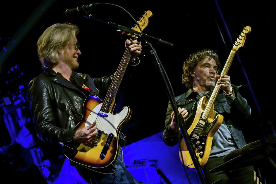 John Oates, right, and Daryl Hall in concert last year. Photo: Stuart M. Berg / Contributed Photo / ©Stuart M Berg; stuartberg.com; wallkillphoto.com