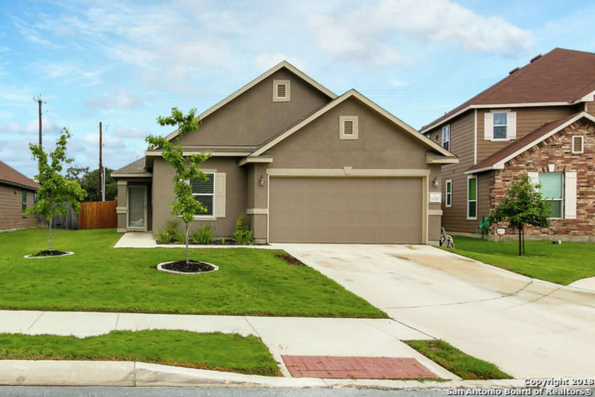 Click ahead to view 5 properties listed at San Antonio's median home price, or about $226,200. 15307 Delta Pt San Antonio, TX 78253: $210,000 4 beds| 2 full bath | 1,693 sq. ft.| Year built: 2017