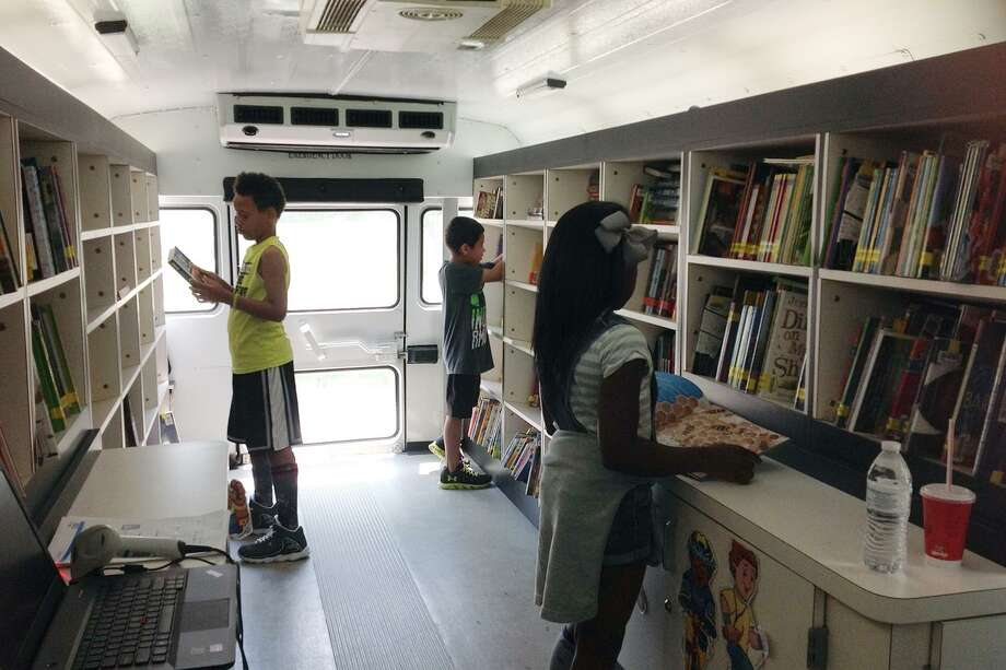 The Mobile Library targets areas in CFISD with higher percentages of at-risk youth in order to increase literacy. Photo: CFISD / CFISD