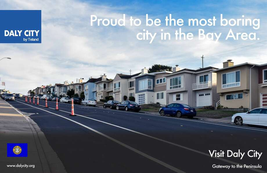 A Reddit contributor has spoofed Daly City with a series of ersatz travel ads that play on on the city's staid image. (Photo illustration courtesy of Teland L.) Photo: Teland L./Imgur