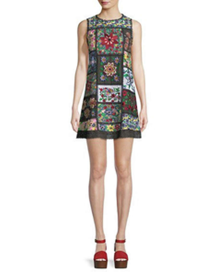Neiman Marcus Last Call, Alice + Olivia Marcelina Sleeveless Embroidered Tunic Dress. $297. Neiman Marcus Last Call, Post Oak Shopping Center, 2315 Post Oak Blvd. Photo: Courtesy Of The Boulevard